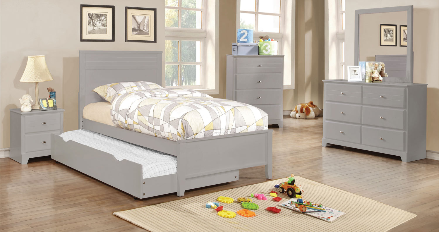 Coaster Ashton Platform Bedroom Collection - Grey