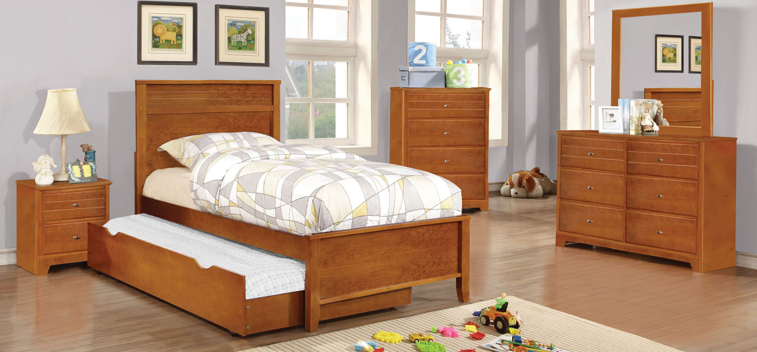 Coaster Ashton Platform Bedroom Collection - Honey