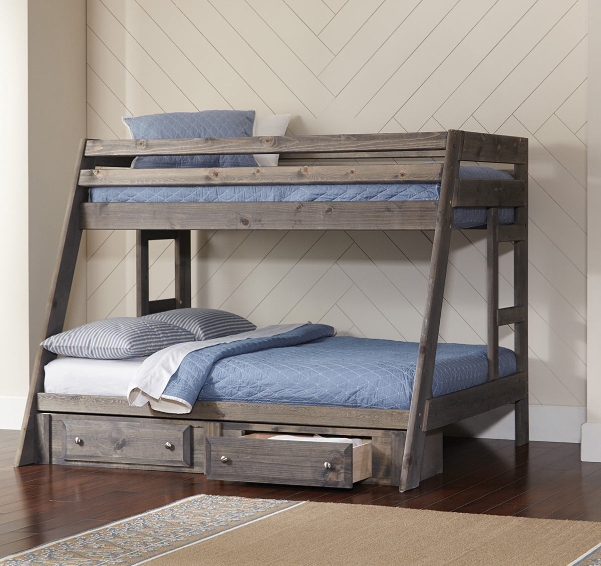 Coaster Wrangle Twin/Full Size Storage Bunk Bed - Gunsmoke