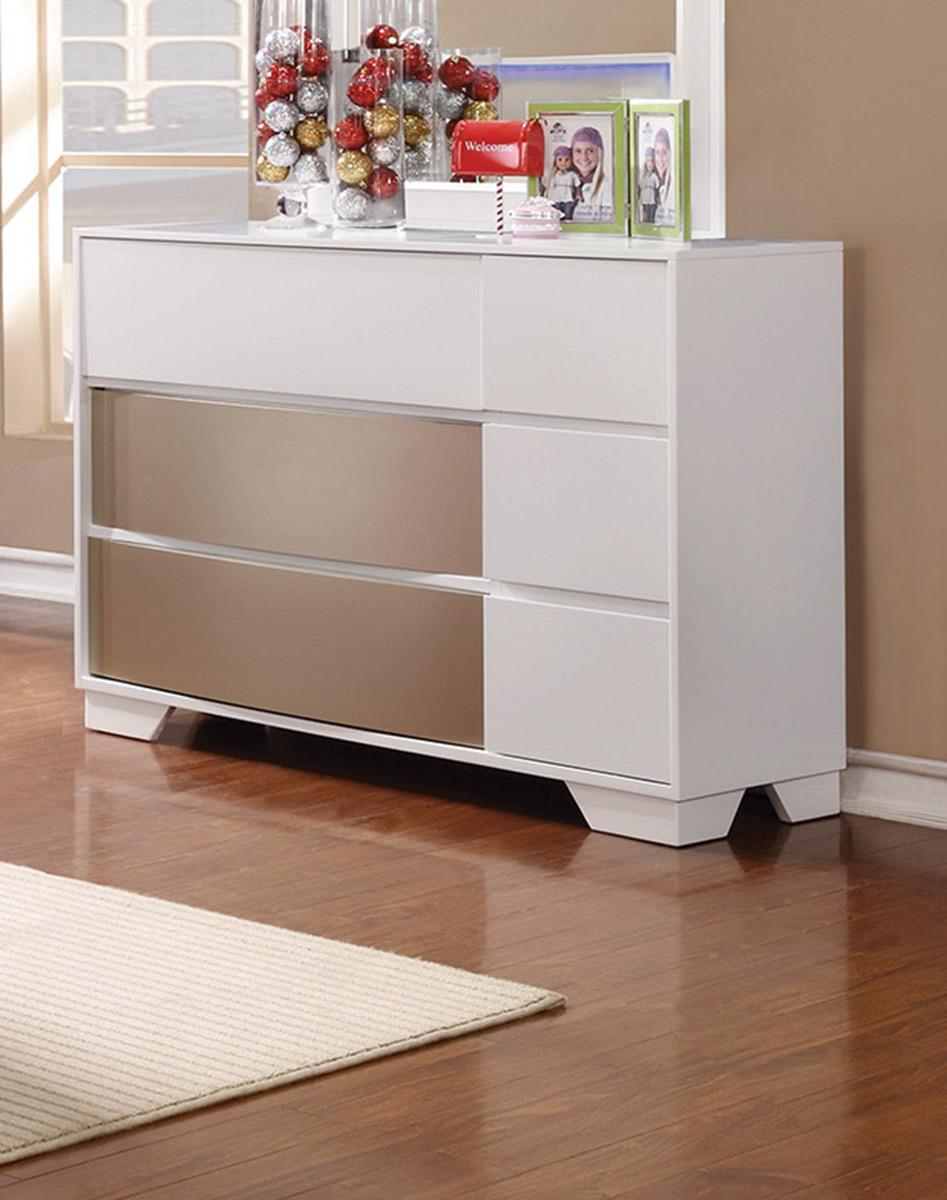 Coaster Havering Dresser - Blanco/Sterling
