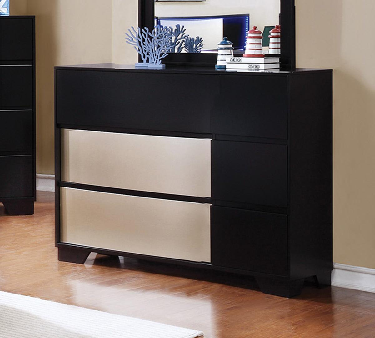Coaster Havering Dresser - Black/Sterling