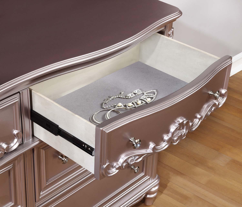 Coaster Caroline Dresser - Metallic Lilac