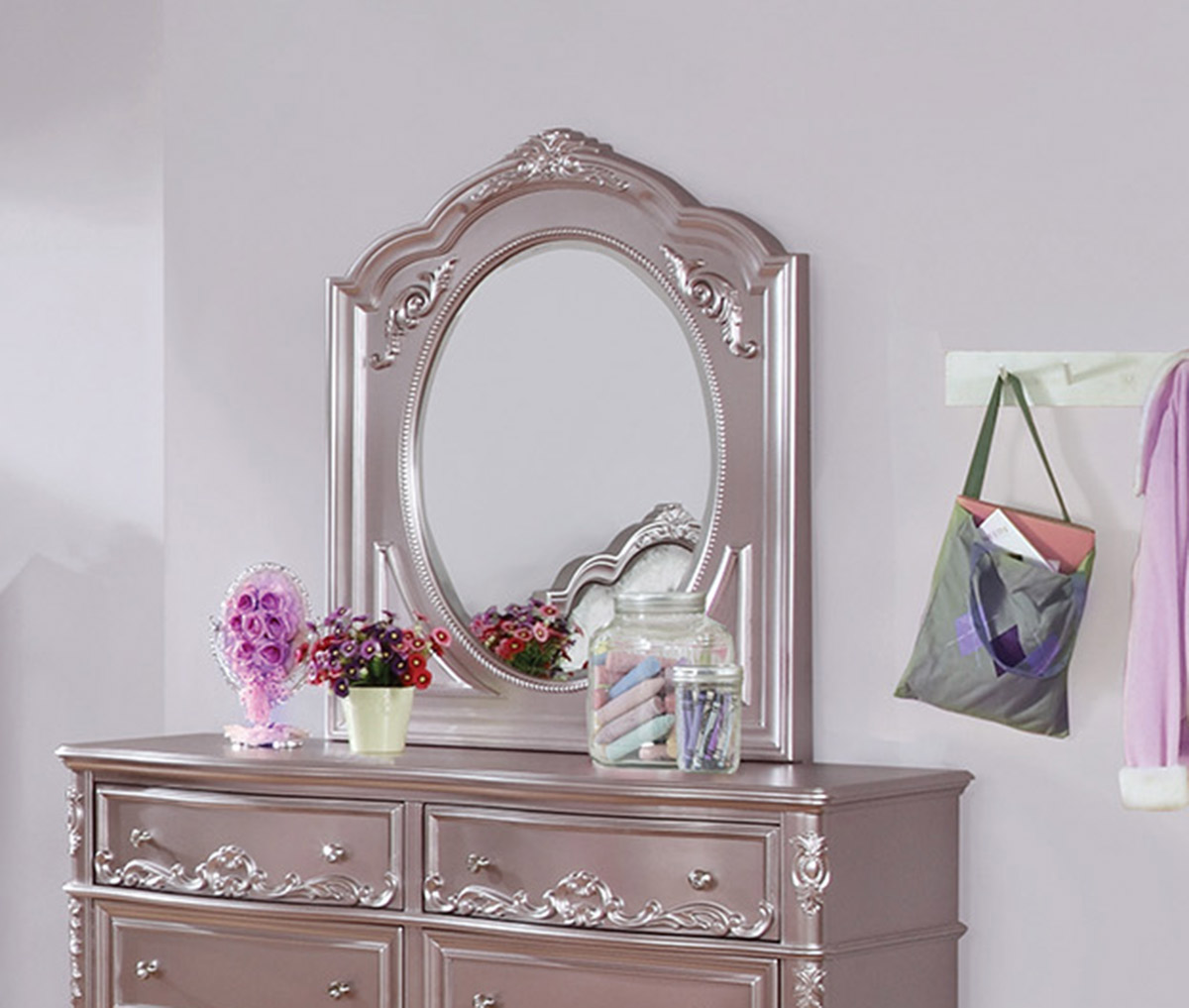 Coaster Caroline Mirror - Metallic Lilac