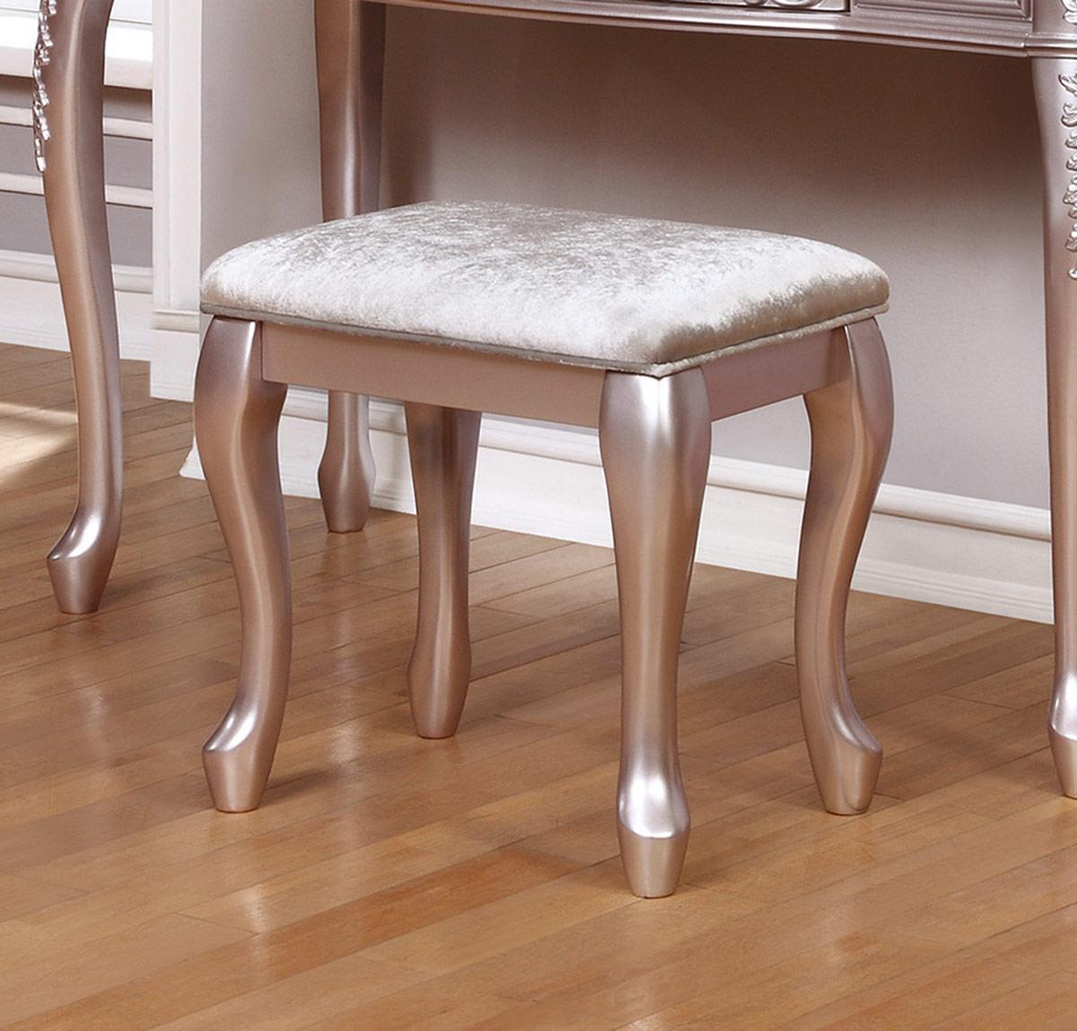 Coaster Caroline Vanity Stool - Metallic Lilac