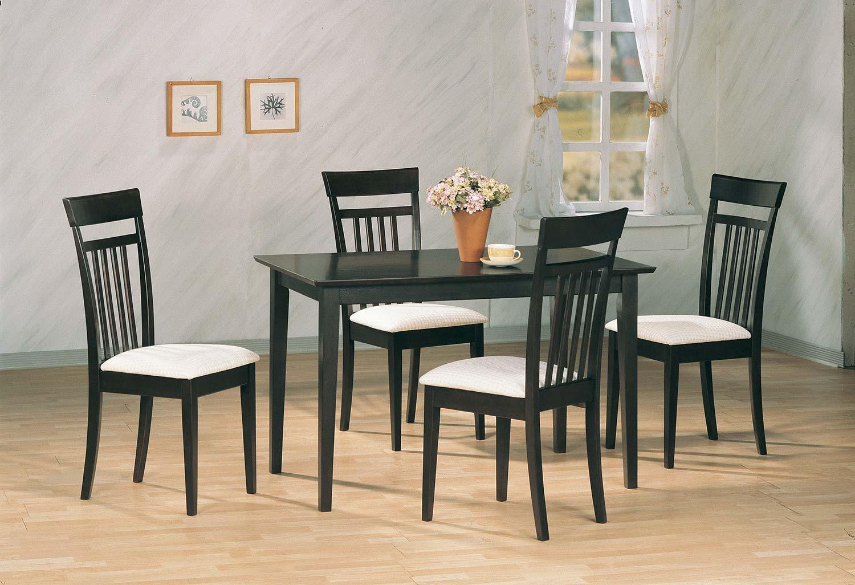 Coaster 4430 5 PC Dinette Set - Cappuccino