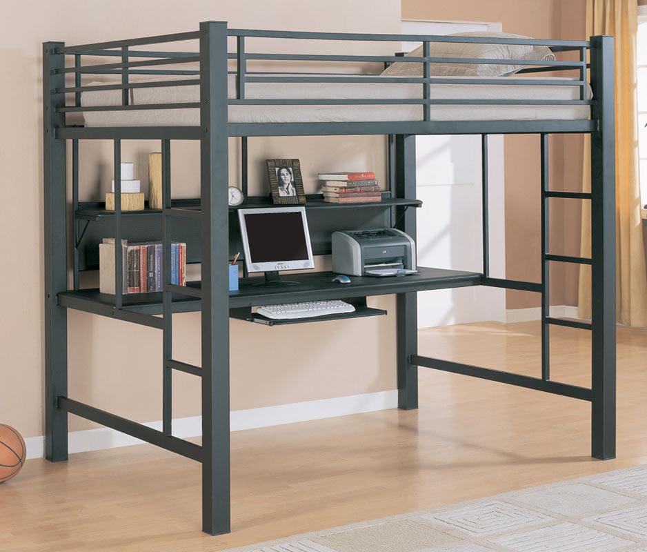 Coaster 460023 Workstation Loft Bed 460023 At Homelement Com