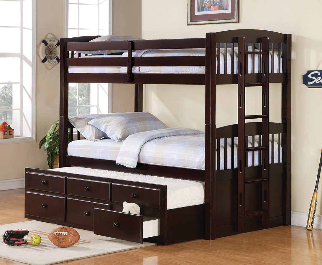 Coaster Logan Twin Twin Bunk Bed With Underbed Storage 460071 460074