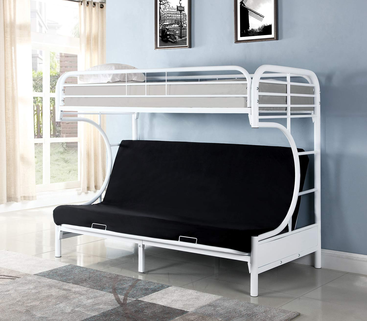 Coaster Atticus Twin/Futon Bunk Bed - White