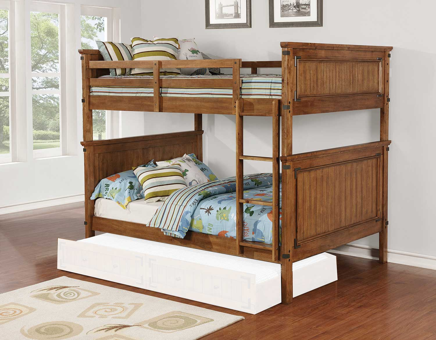 Coaster Coronado Full/Full Size Bunk Bed - Rustic Honey