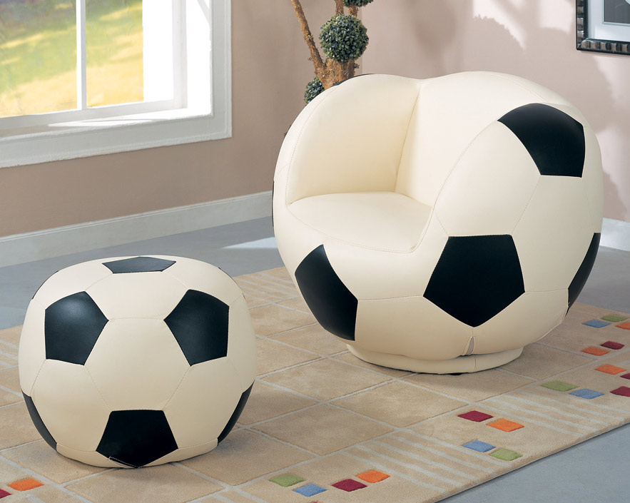 Coaster 460188 Large Soccerball Chair and Ottoman Set