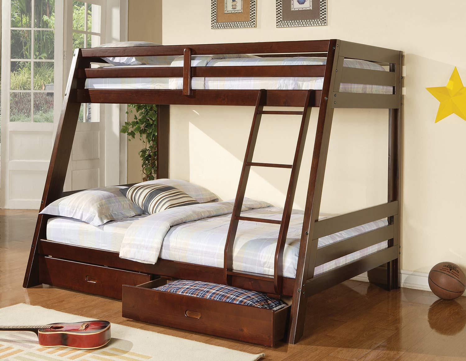 Coaster Hawkins Twin/Twin Size Bunk Bed - Brown