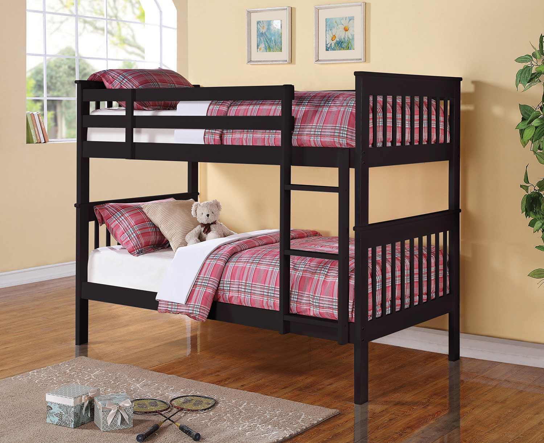 Coaster Chapman Twin/Twin Size Bunk Bed - Black