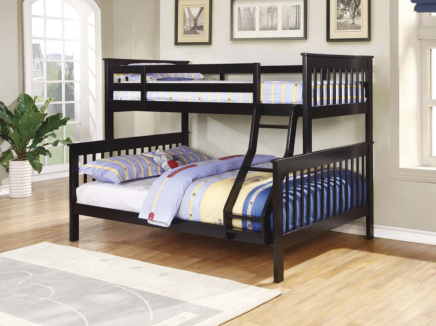 Coaster Chapman Twin/Full Size Bunk Bed - Black