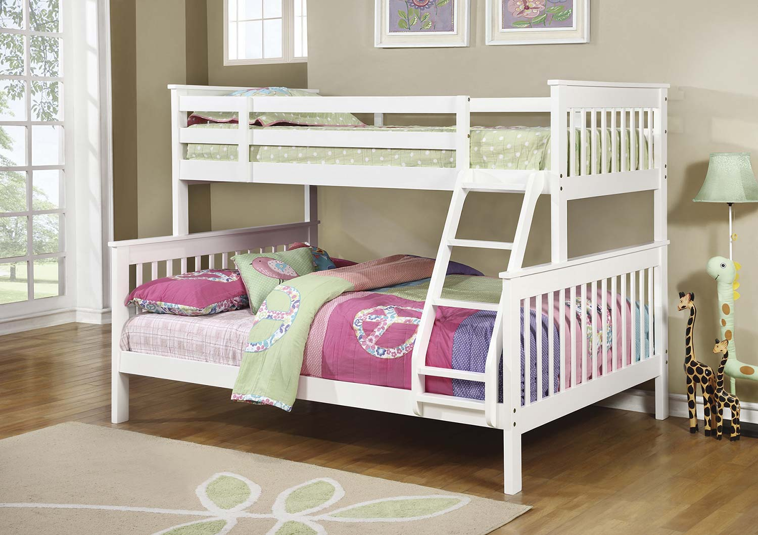 Coaster Chapman Twin/Full Size Bunk Bed - White