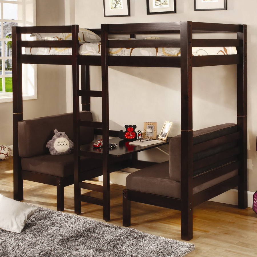460263 Twin-Twin Convertible Loft Bed - Coaster