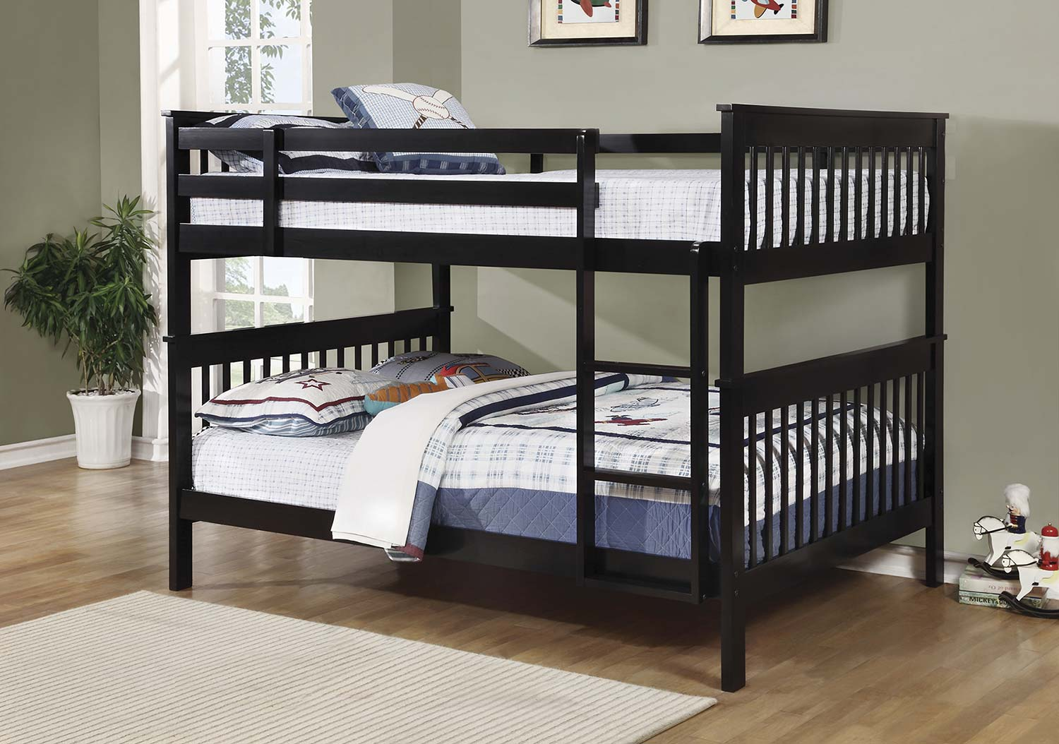 Coaster Chapman Full/Full Size Bunk Bed - Black