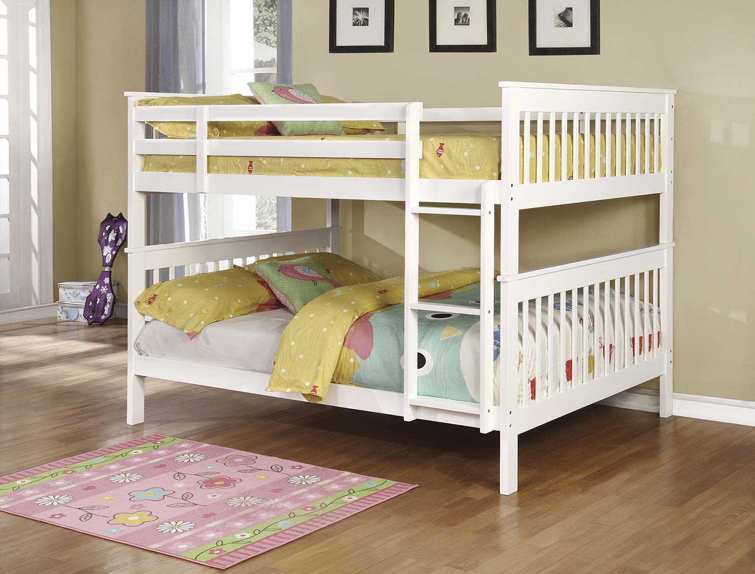 Coaster Chapman Full/Full Size Bunk Bed - White