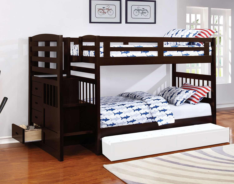 Coaster Dublin Twin/Twin Size Bunk Bed - Cappuccino