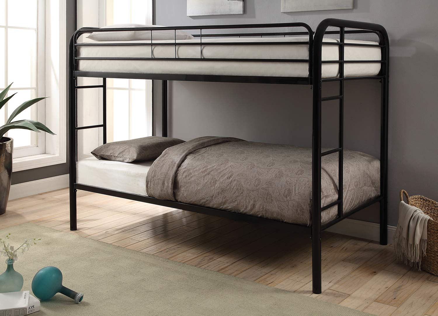 Coaster Morgan Twin/Twin Size Bunk Bed - Black
