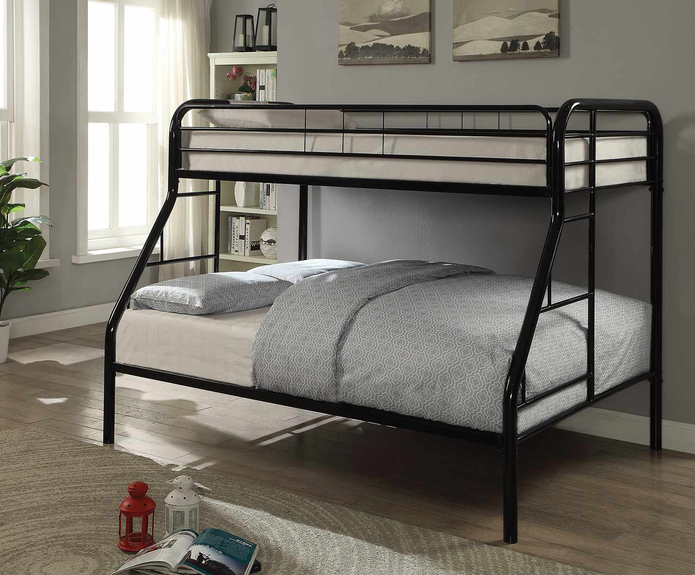 Coaster Morgan Twin/Full Size Bunk Bed - Black