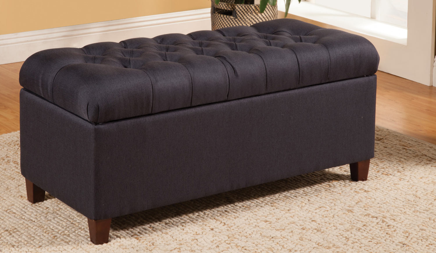 Coaster 500066 Storage Bench Dark Navy 500066