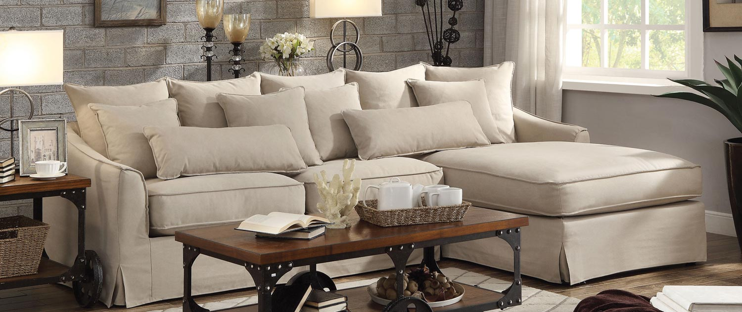 Coaster Knottley Sectional Sofa - Beige : coaster sectional sofa - Sectionals, Sofas & Couches