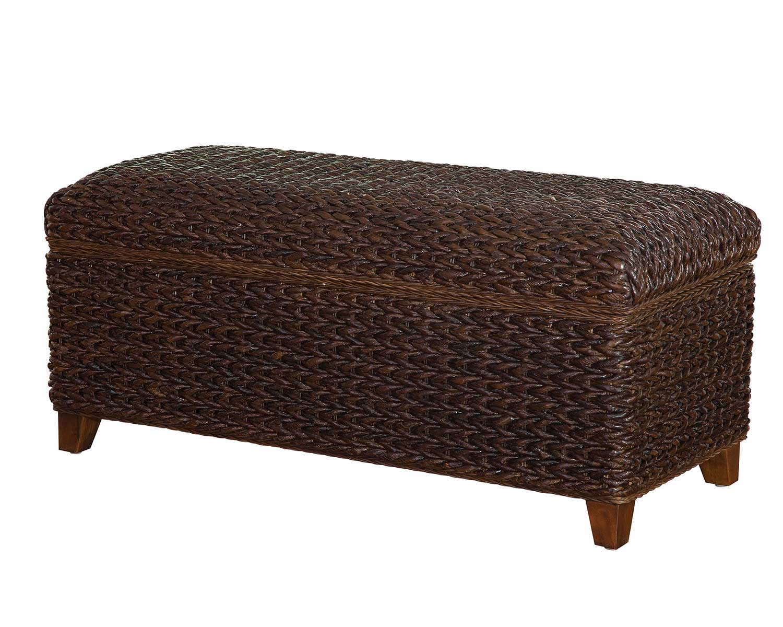 Coaster Laughton Storage Bench - Dark Brown Abaca/Cocoa Brown