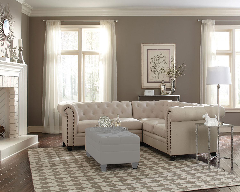 Coaster 500222 Sectional Sofa - Oatmeal