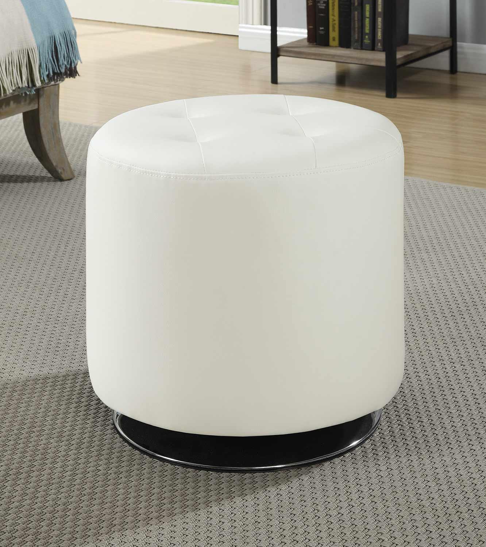 Coaster 500554 Ottoman - White