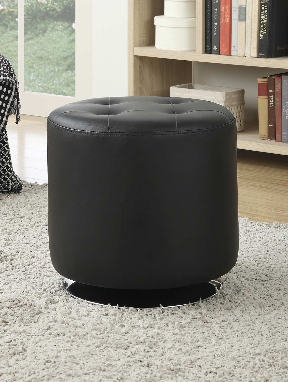 Coaster 500556 Ottoman - Black