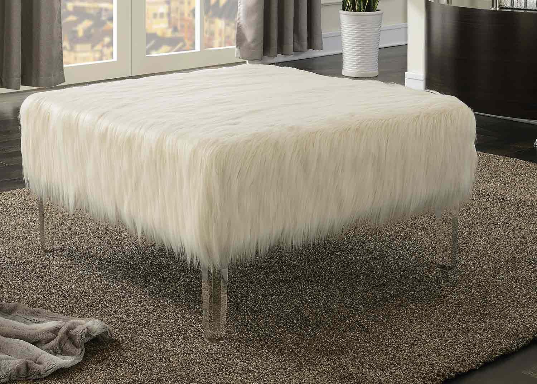Coaster 500780 Ottoman - White