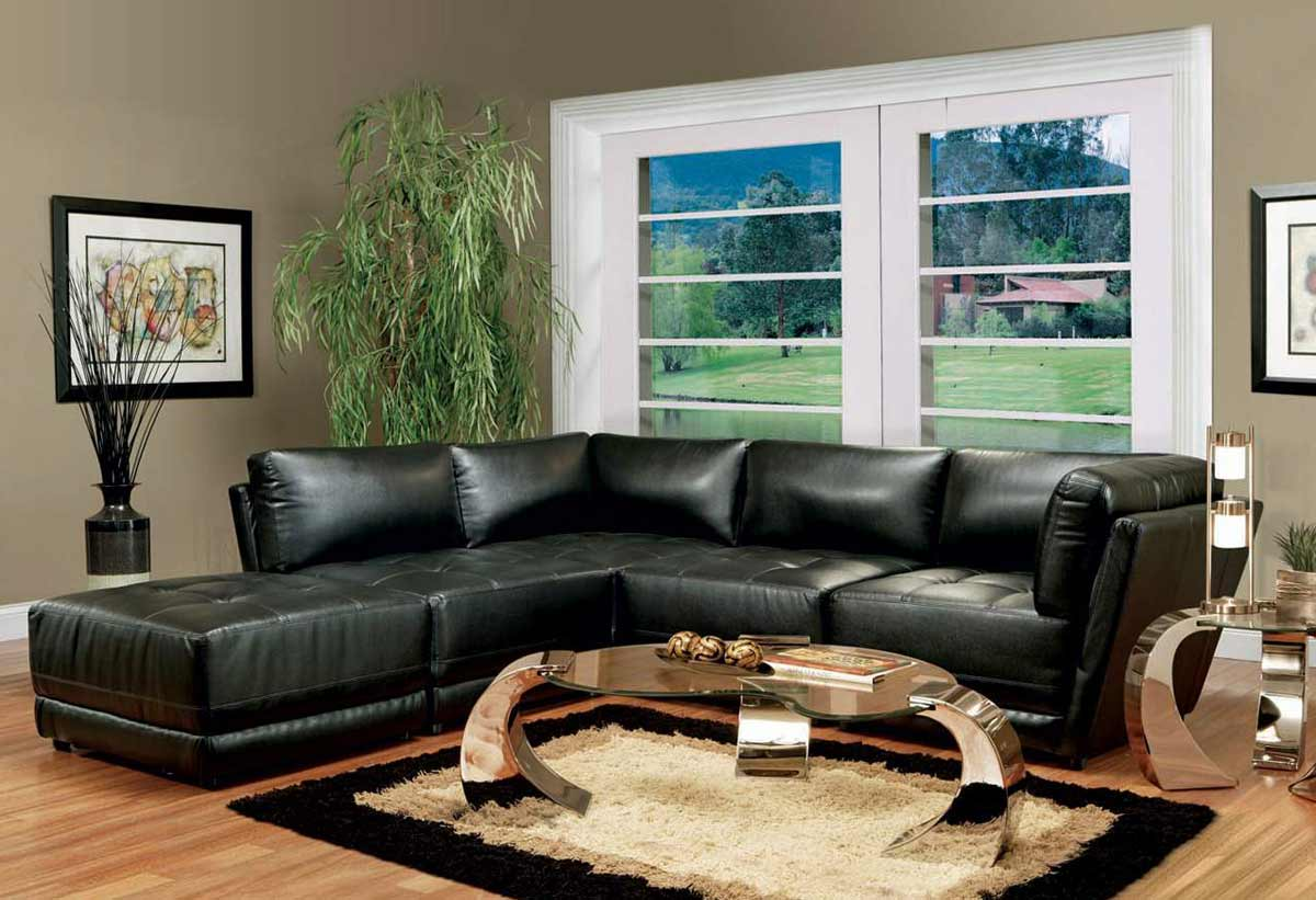 Coaster Kayson Sectional Sofa Set - Black