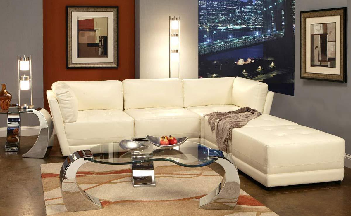 Superb-quality Coaster SECT SET WHT Kayson Sectional Sofa Set  Product Photo