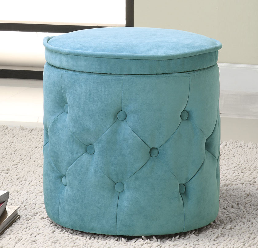 Coaster 50092X Storage Ottoman - Blue - Coaster 50092X Storage Ottoman - Blue 500927 At Homelement.com
