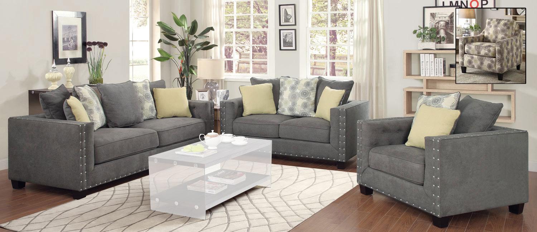 Superb Coaster Kelvington Sofa Set   Charcoal