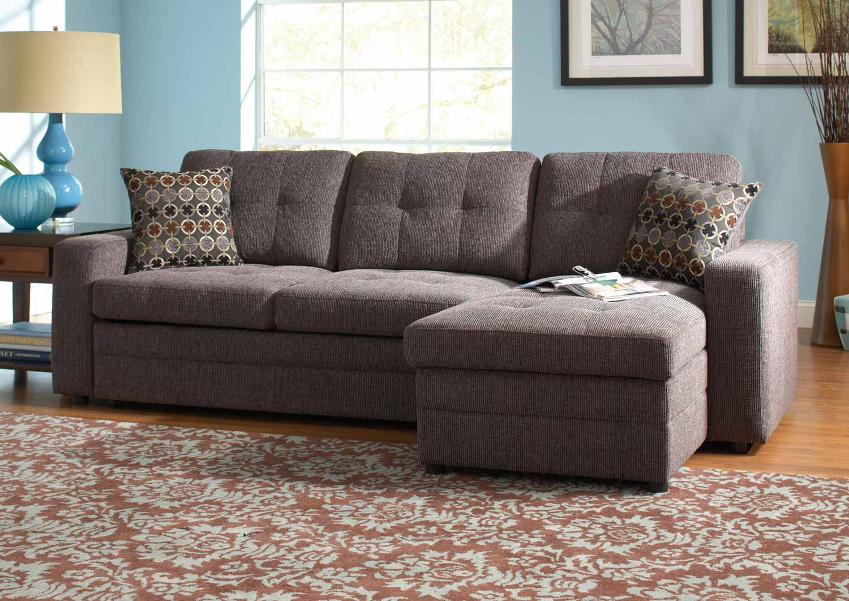 Coaster Gus Sectional Sofa - Charcoal/Black