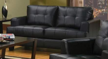Coaster Samuel Love Seat - Black