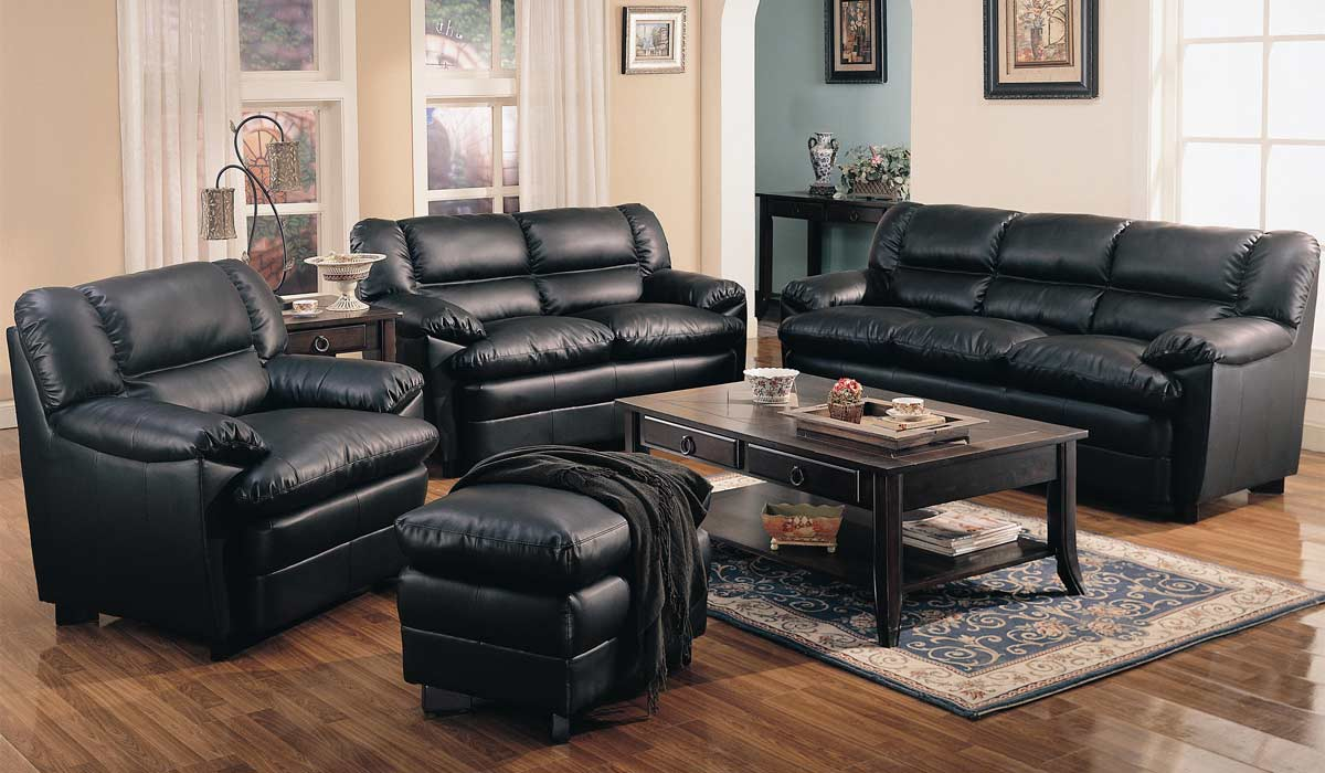 Coaster Harper Overstuffed Sofa - Black