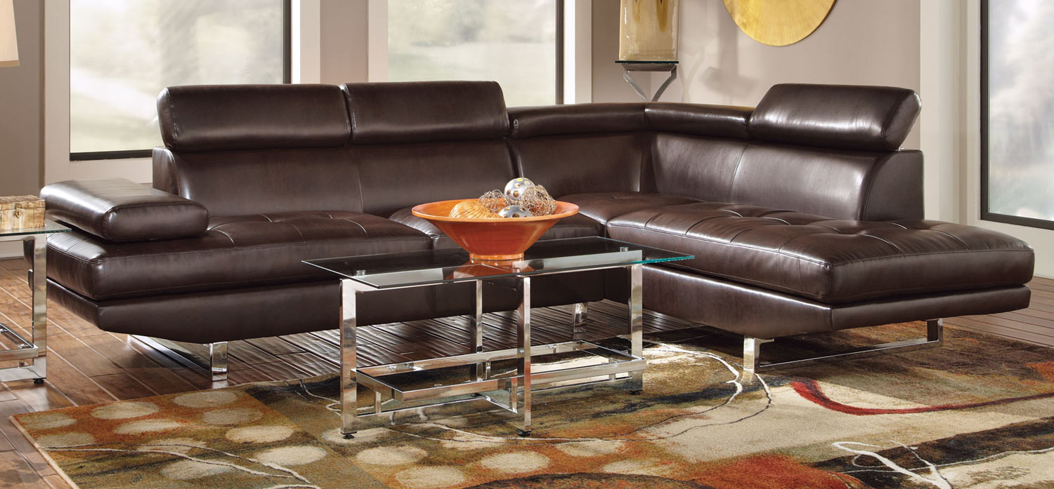 Coaster Piper Sectional Sofa - Chocolate : coaster sectional sofa - Sectionals, Sofas & Couches