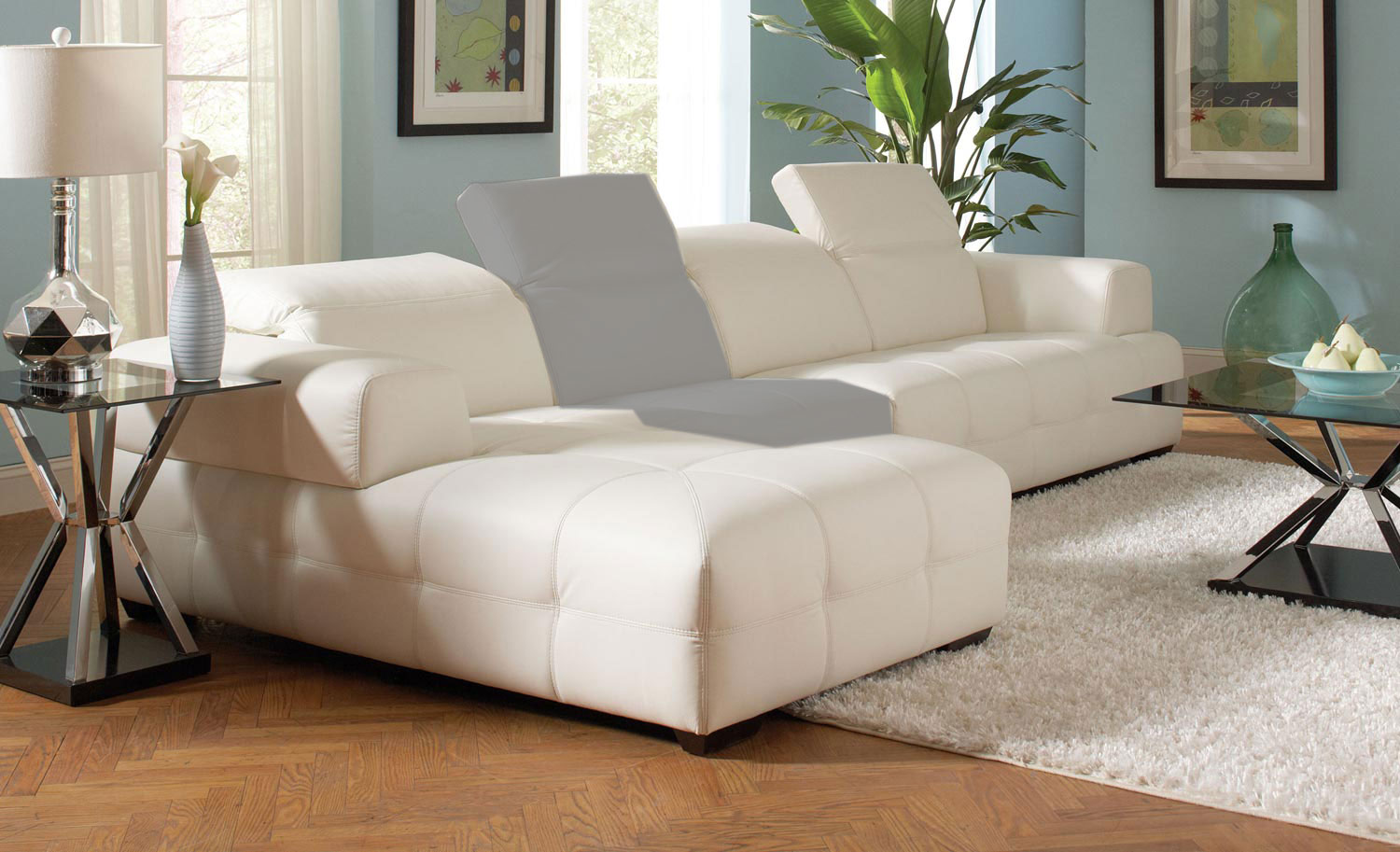 Coaster Darby Sectional Sofa   White