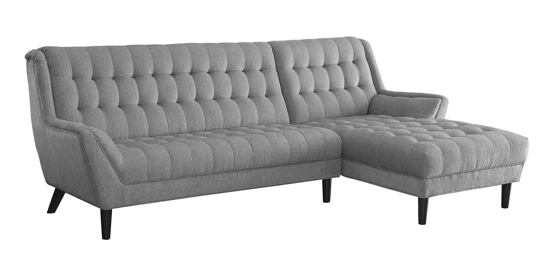 Coaster natalia sectional sofa dove grey 503777 at for Dove grey sectional sofa