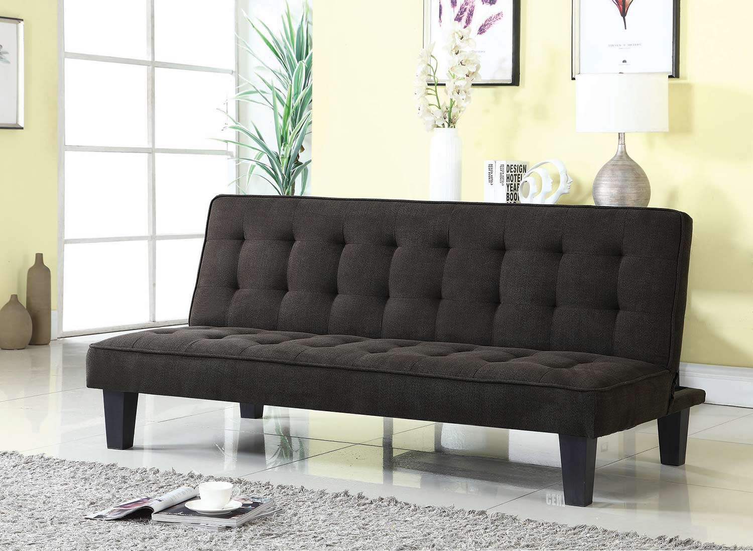 Coaster 503958 Sofa Bed Dark Brown