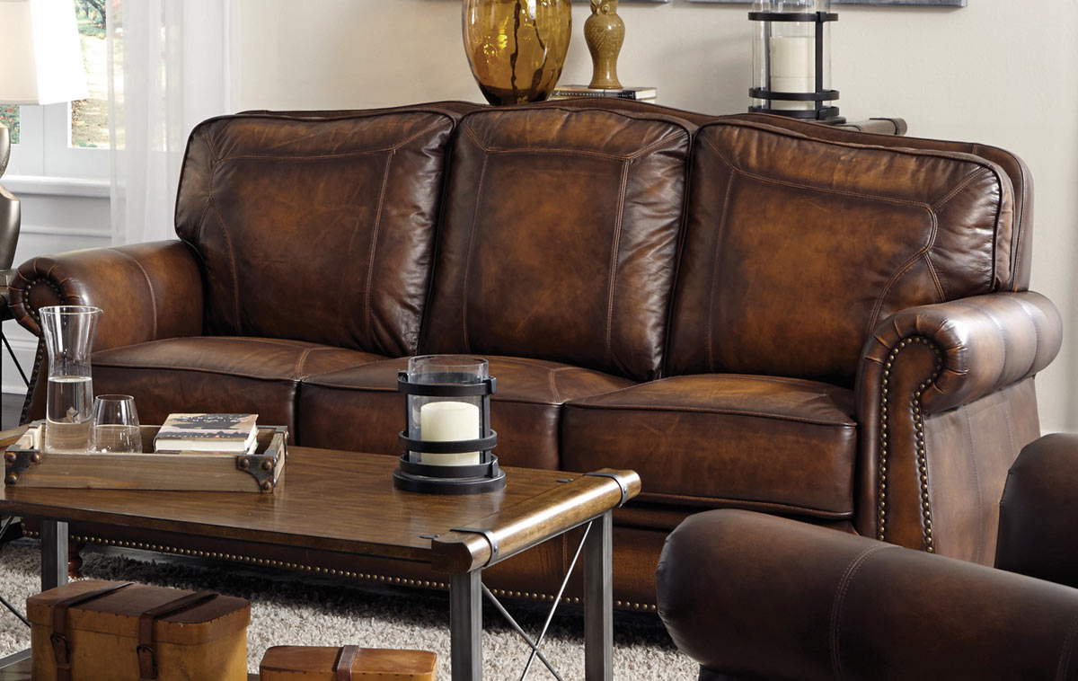Coaster Montbrook Sofa - Hand Rubbed Brown