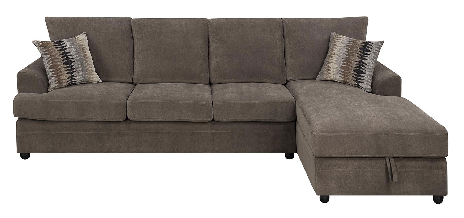 Coaster Moxie Sectional Sleeper Sofa   Chocolate