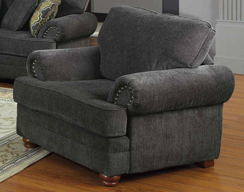 Coaster Colton Chair   Smokey Grey