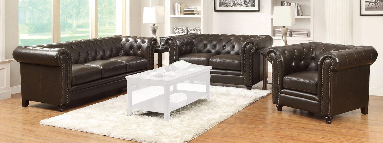 Coaster Roy Sofa Set - Brown