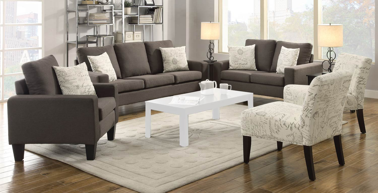 Coaster Bachman Sofa Set Grey 504764 Sofa Set At