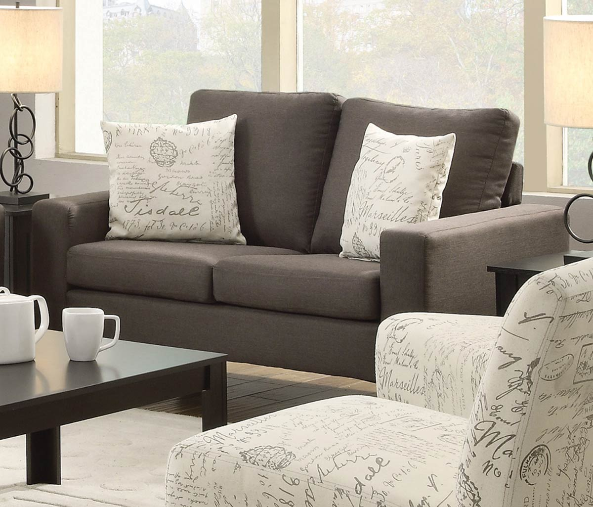 Coaster Bachman Love Seat - Grey