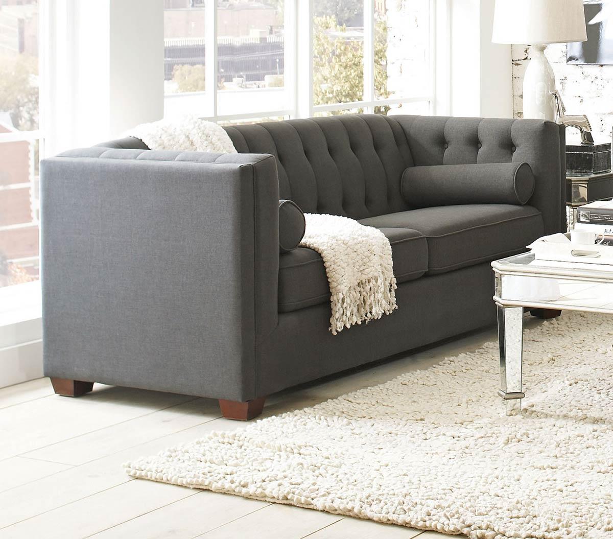 Coaster Cairns Sofa - Charcoal/Brown