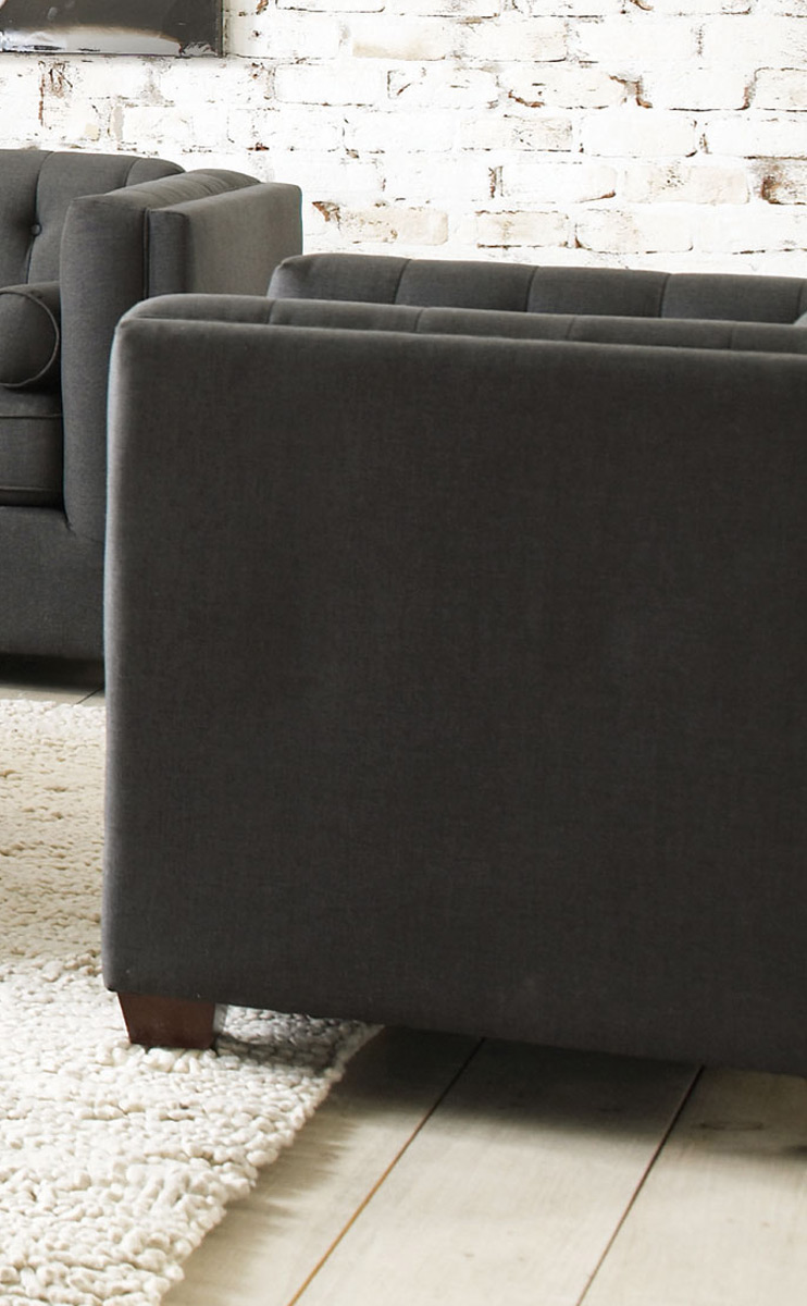 Coaster Cairns Chair - Charcoal/Brown